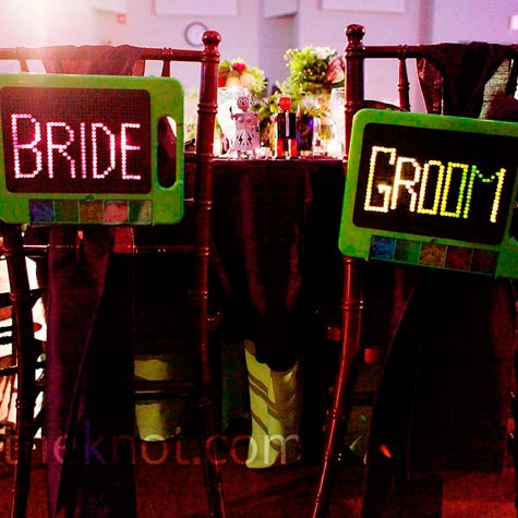 Lite-Brite Wedding Signs
