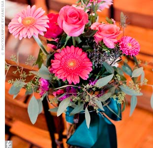 Pink Floral Ceremony Decor