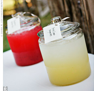 Guests enjoyed a margarita bar with fresh lime, prickly pear and raspberry flavors during the cocktail hour.