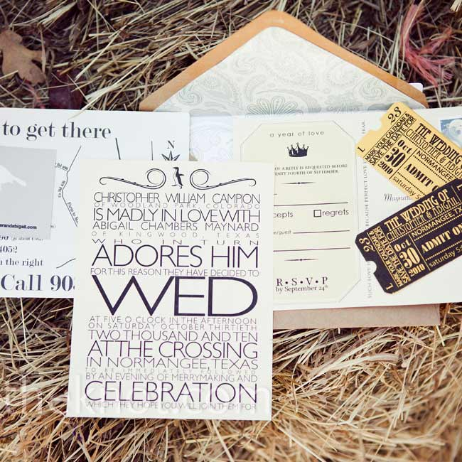 Chris designed the invitations with an emphasis on typography as well as an old-school feel.