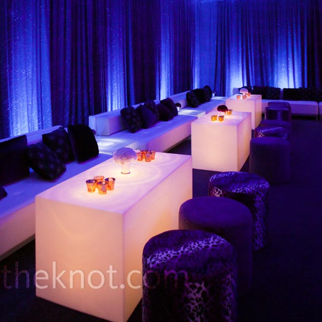 It's not enough to simply add a cocktail hour to your wedding timeline. Sexy lounge spaces and after-parties are a must for showing guests a ridiculously good time.