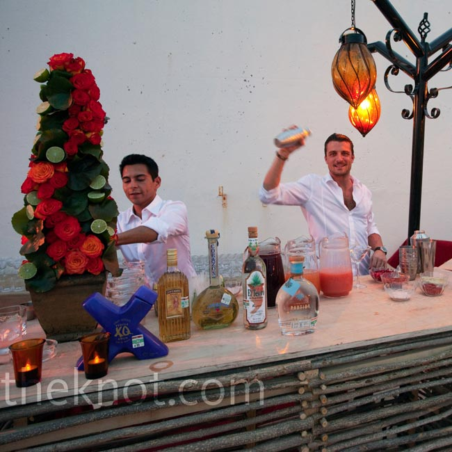 "When it comes to destination weddings, Colin is a firm believer in bringing your own staff to ensure the highest quality of service. ""Some people take American Express [with them abroad]; I take the mixologist,"" he says.