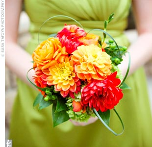 Orange Dahlia Bouquet