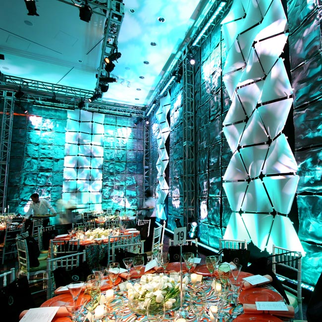 David used inventive lighting effects to bring out the texture and dimension in these custom-created walls.