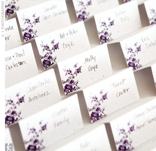 The escort card paper was embedded with seedlings that guests could plant afterward.
