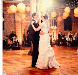 "The band played Van Morrison's ""Into the Mystic"" for the first dance -- a classic that the couple chose together."