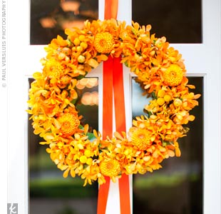 Orange Floral Wreath