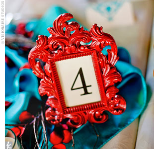 Red Table Numbers