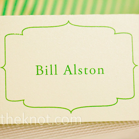 Green Escort Cards