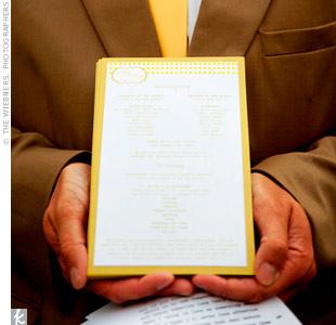 Yellow Ceremony Programs