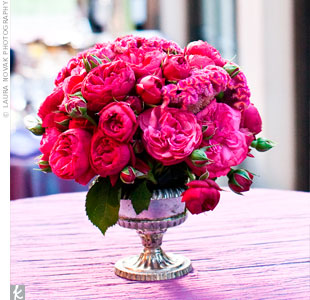 Pink Floral Centerpieces