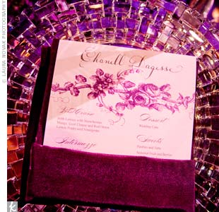 Purple Place Settings