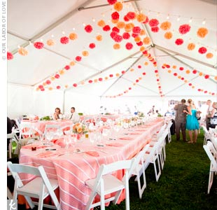 Tented Wedding Decor