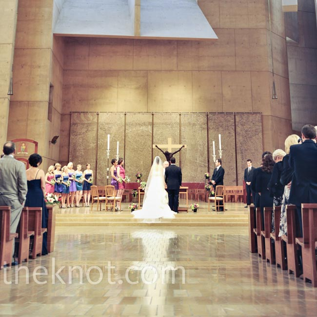 Jamie went to USC, and the the Cathedral of Our Lady of the Angels in downtown LA was completed as she was finishing college. That connection, plus its amazing architecture, made it a no-brainer for the ceremony.