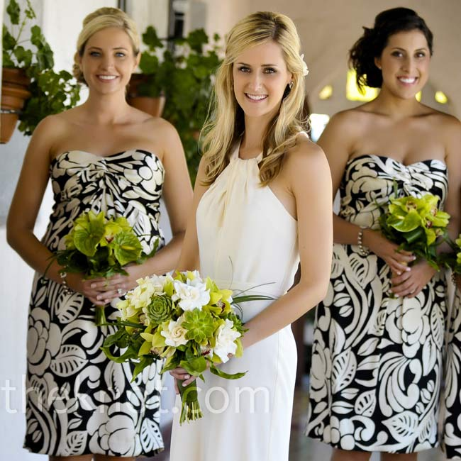 Before she even bought her own gown, Kira found these floral-print Ralph Lauren dresses. They were perfect for her bridesmaids.