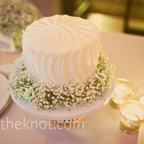 Baby's Breath Cake Decor