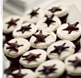 Chocolate Starfish Cupcakes