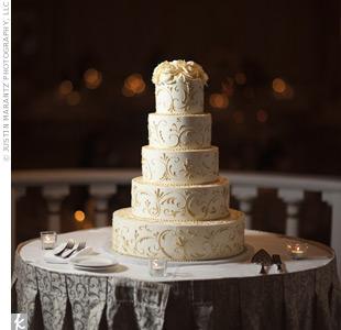 Scrollwork Wedding Cake