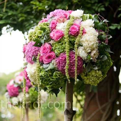Topiary Ceremony Decor