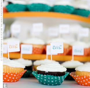 Monogram Flag Cupcakes