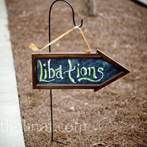 Chalkboard Cocktail Sign