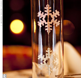 Snowflake Ornament Centerpieces
