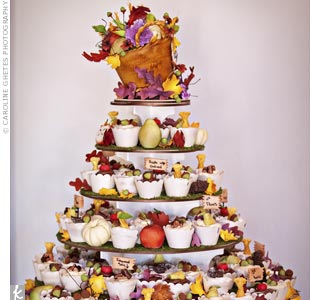 Fall Wedding Cupcake Display