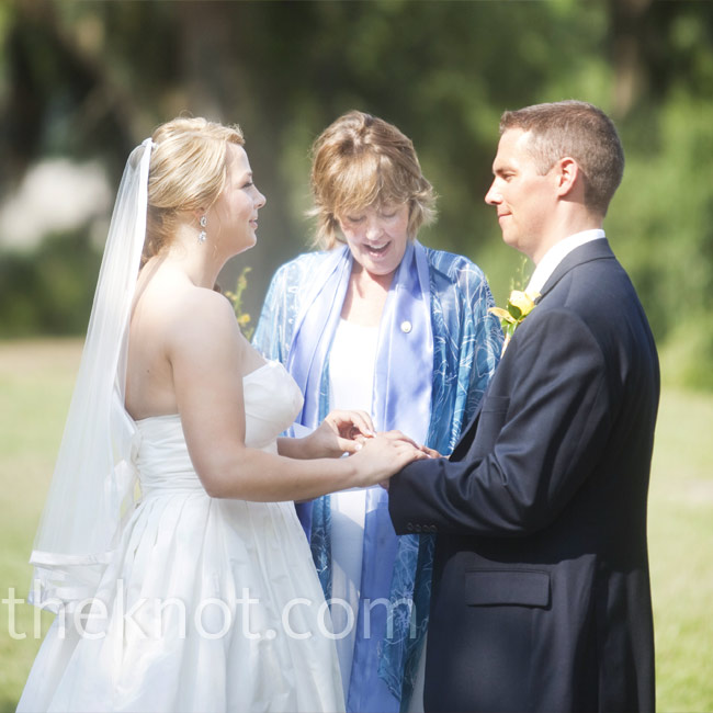 Mandy and Drew said their vows outdoors overlooking a beautiful marsh at Orton Plantation Gardens.