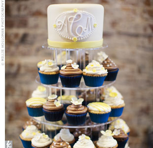 Monogrammed Wedding Cake