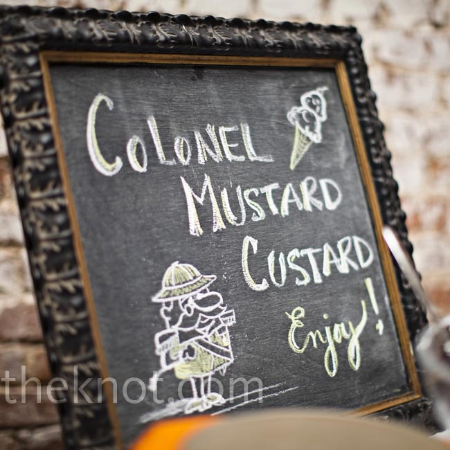 Later in the evening, guests dug into an ice cream stand, aptly named Colonel Mustard's Custard.