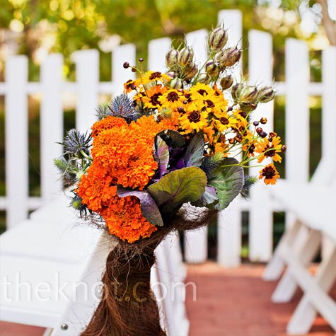 Wildflower Ceremony Decor