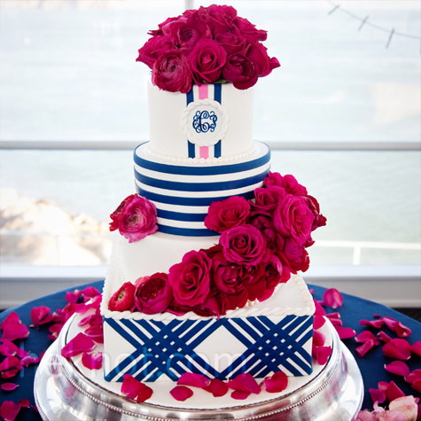 Navy Stripe Cake