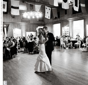 "Erin and Pat have always loved ""Someone Like You"" by Van Morrison and chose it for their first dance."
