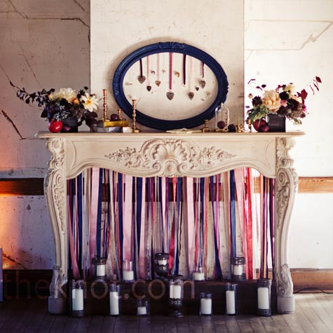 Ribbon and Candle Ceremony Decor