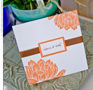 Orange Pocket Invitations