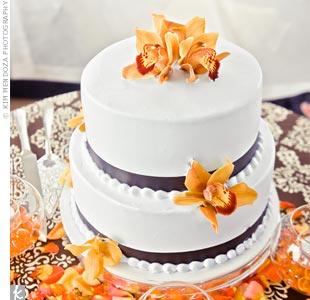 Orange Orchid Cake