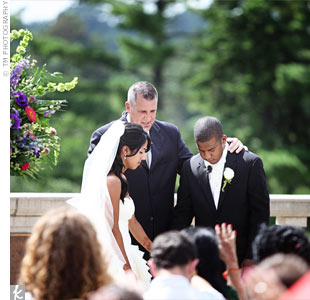 Avrita and Avonte exchanged traditional vows at the pavilion in Ault Park, which overlooks the park's gardens.