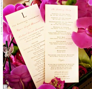 Rectangular Ceremony Programs