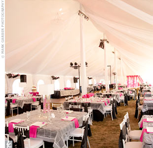 Modern Wedding Reception Tent