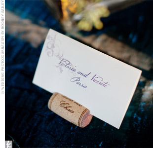 Plum Escort Cards