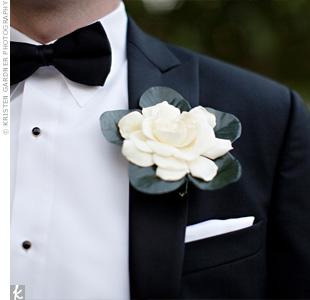 White Gardenia Boutonniere