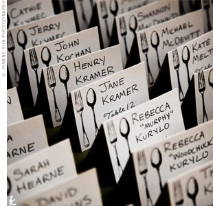 Stamped Escort Cards