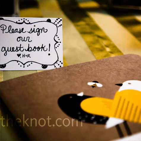Love Bird Guest Book
