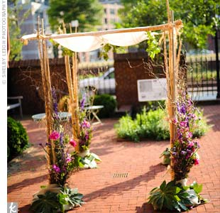 Organic Wedding Huppah