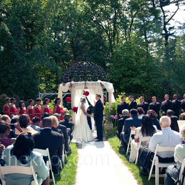 Nadege and Joseph exchanged vows in Hamilton because it's only 10 minutes away from the high school in Ewing where they met.
