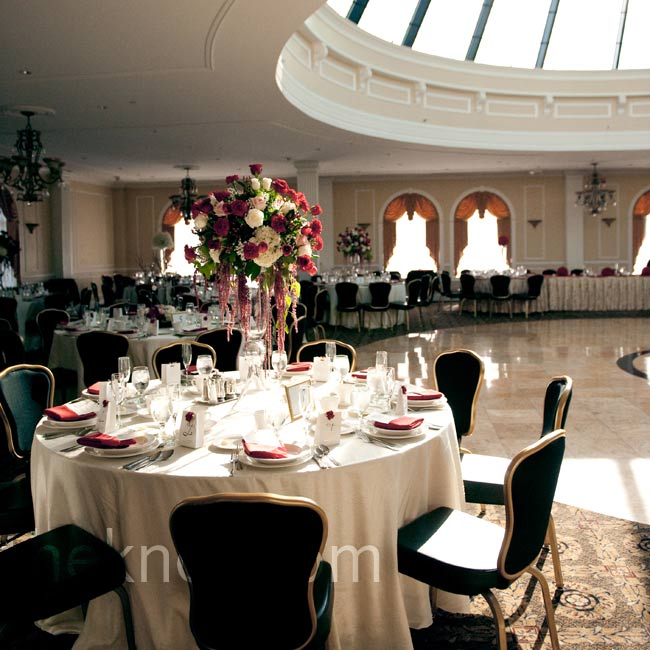 The Merion's domed skylight ceiling let in lots of natural light during the reception.