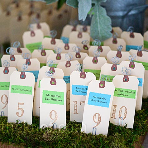 Tag Escort Cards
