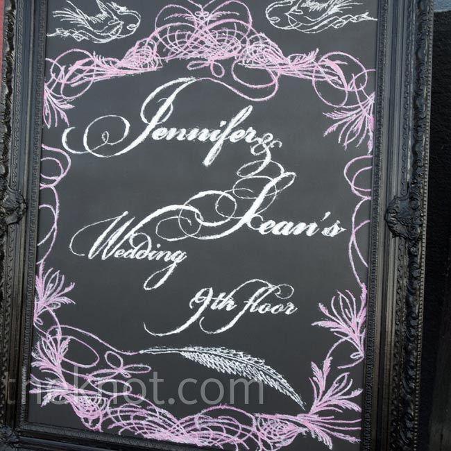 Jennifer asked a local artist to make something special on this black-painted antique frame.