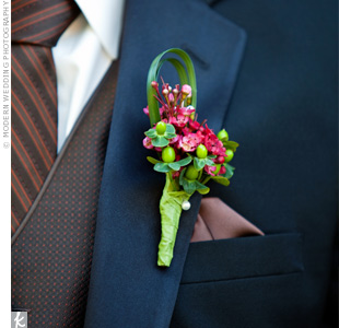 Floral Berry Boutonniere