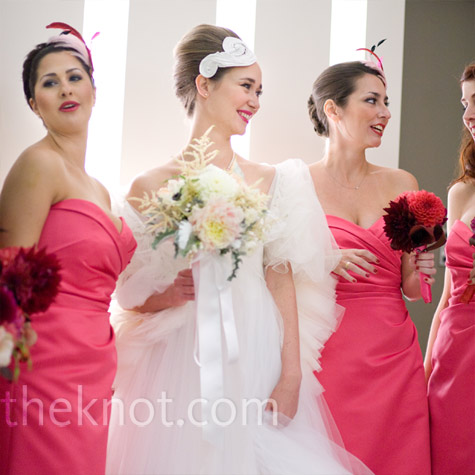 Hot Pink Bridesmaid Dresses